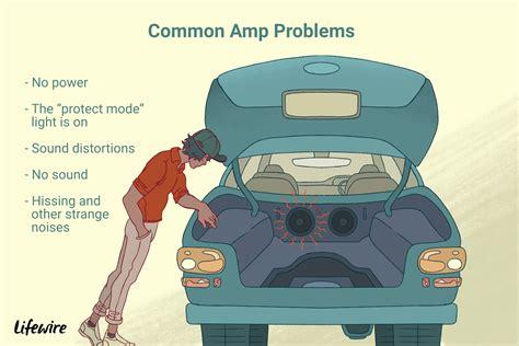fix common car amp problems