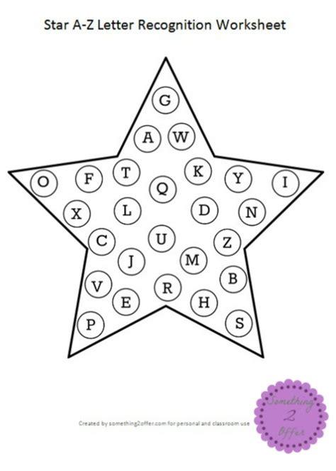 sta lettere a z letter recognition worksheet