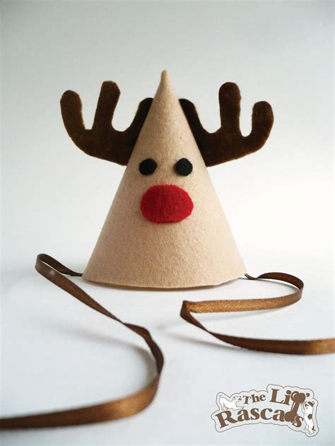 christmas rudolph the red nose reindeer party hat costume