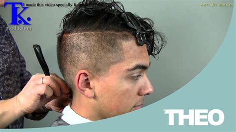 side shaved with kurky man s haircut sides shaved curly hairstyle on pravir b
