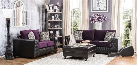 purple and black living room biden purple and black living room set sm6304 sf