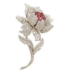 Century Home Design Inc harry winston ruby diamond flower pin at 1stdibs