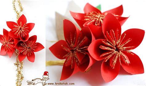paper poinsettia flowers pattern diy paper poinsettia no 235 l no 235 l no 235 l pinterest