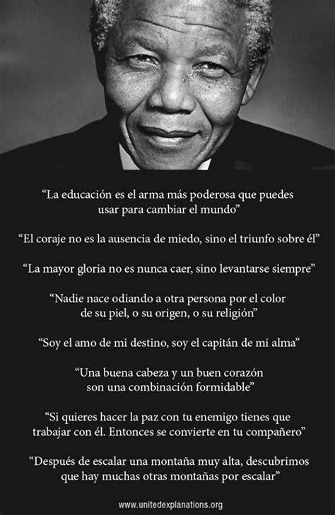 nelson mandela biography in spanish nelson mandela s inspirational phrases inspirational