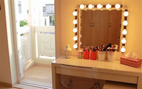 makeup station with lights diy vanity mirror with lights for bathroom and makeup station