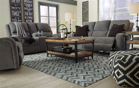 power reclining living room set krismen charcoal power reclining living room set 7810215