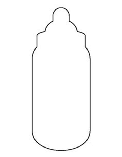 baby bottle template best photos of baby bottle outline printables free