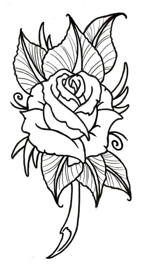 rose tattoo template 24 best designs printable images on