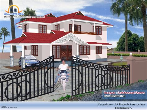 4 Beautiful Home Elevation Designs In 3d Kerala Home Design And Floor Plans
