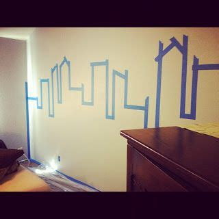 superhero bedroom paint ideas painting gotham city accent wall superhero room almost