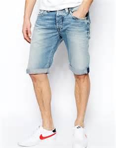 light denim mens mens light denim shorts the else