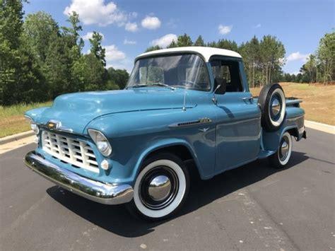 1956 chevrolet 3100 pickup 1 2 ton v8 4 spd blue short bed