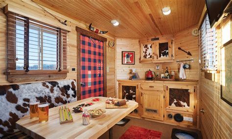 fish house interior designs a ralph lauren inspired ice fishing house