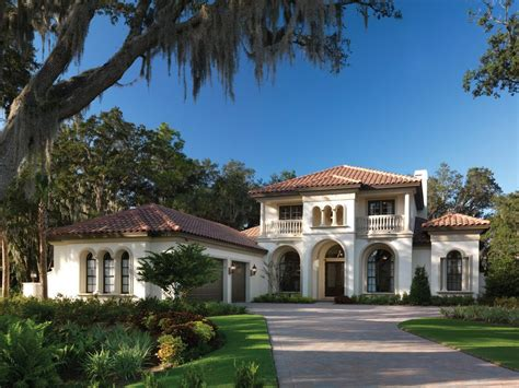 florida custom home plans home plans exterior mediterranean with stucco siding