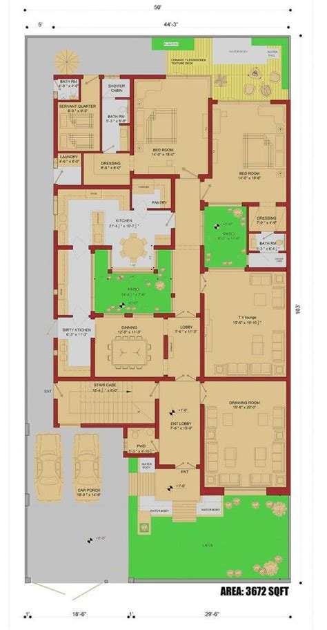 Floor Plan Of A Room 450 Sqm House Plan 1 Kanal House Plan Home Plans