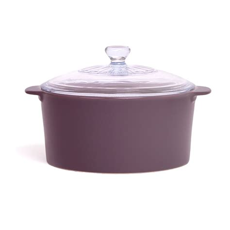 Pan Bolde Purple Set Panci Granite Ceramic Cookware Set Asli robin shea pareto 3 5 quart stockpot in eggplant purple glass l neoflam