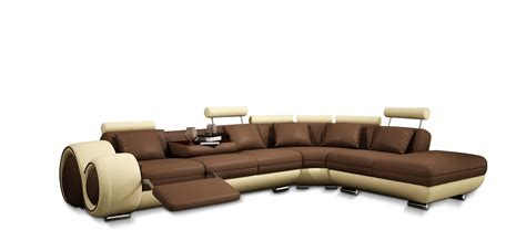 modern leather sectional sofa with recliner