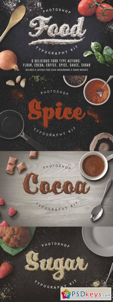 food typography tutorial photoshop food typography psd actions 154709 187 free download