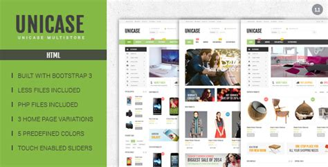 themeforest ecommerce html template unicase electronics ecommerce html template by