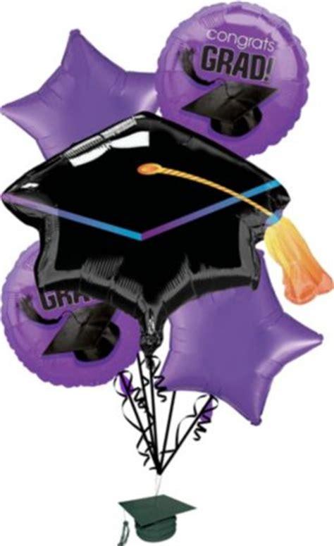 purple graduation balloon bouquet pc party city
