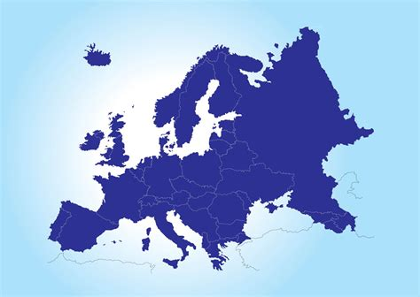continent map vector europe continent map map of europe vector places to
