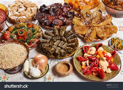 traditionasl bulgarian vegetarian food on stock