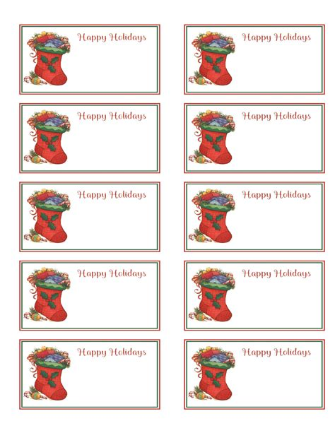 12 days of card template 6 best images of printable gift tags templates