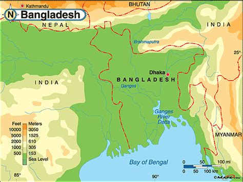 geographical map of bangladesh bangladesh physical map by maps from maps world