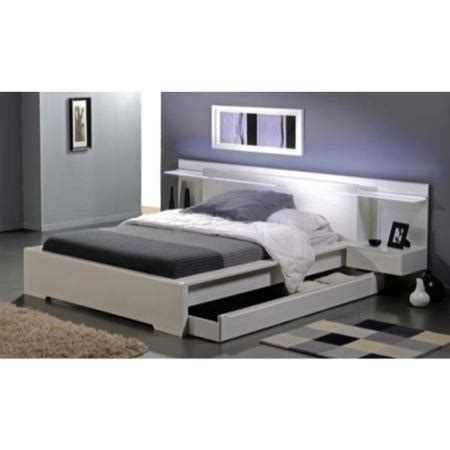 headboard fittings amy white bed and headboard with light fitting and