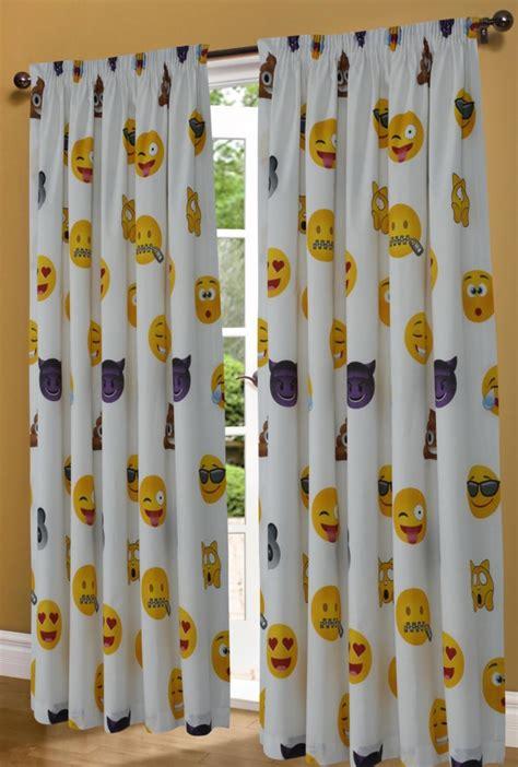 Grey Linen Curtains Uk Emoji Icons Emotions Faces Printed Duvet Cover Bedding Set