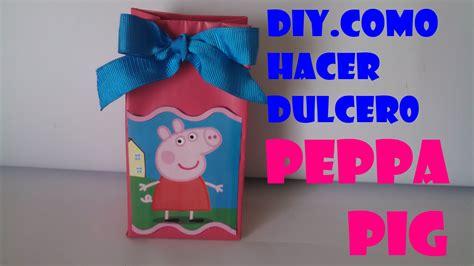 como hacer brazos y manos de peppa pig en porcelana como hacer dulcero peppa pig con caja de leche youtube