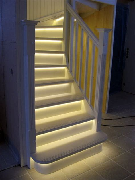 Led Light Strips For Stairs White Stairs With Led Lights By Puupaja Lumberjocks