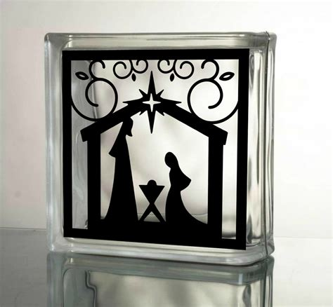 nativity decal christmas decals for glass blocks by