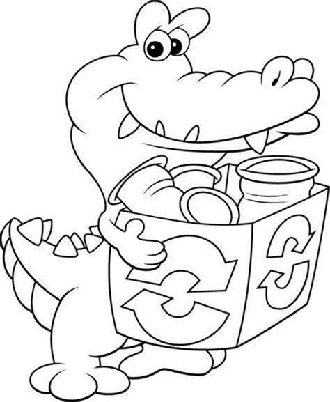 recycling coloring sheets coloring pages