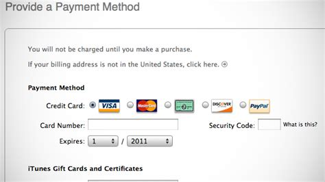 Sle Credit Card For Apple Id Create An Apple Id In Itunes Account Without A Credit Card Lifehacker Australia