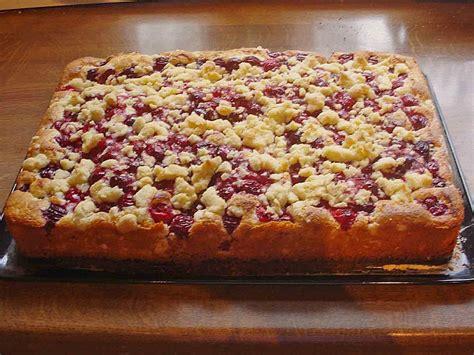 kirsch kuchen kirsch streusel kuchen rezept mit bild wilana