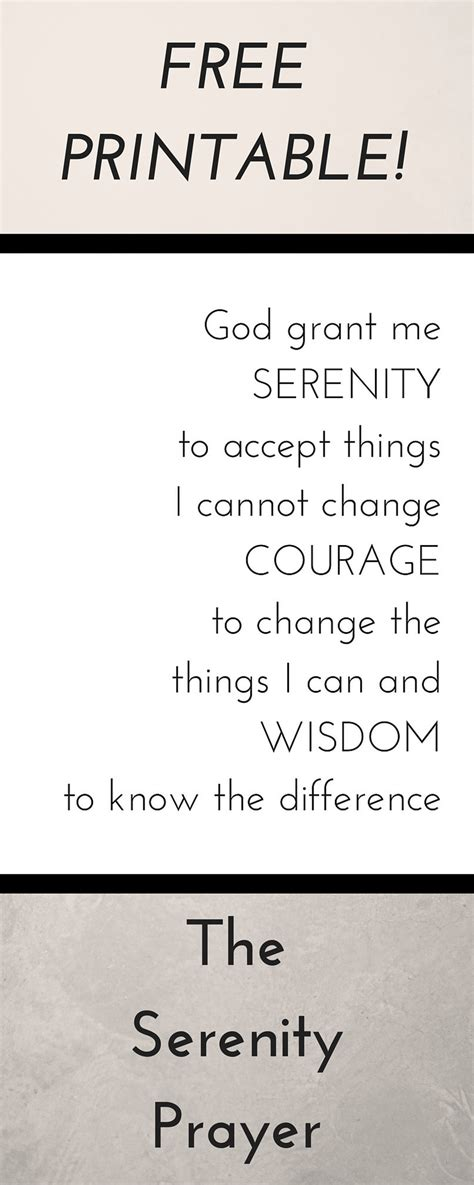 printable version of the serenity prayer serenity prayer printable the traveler s nest