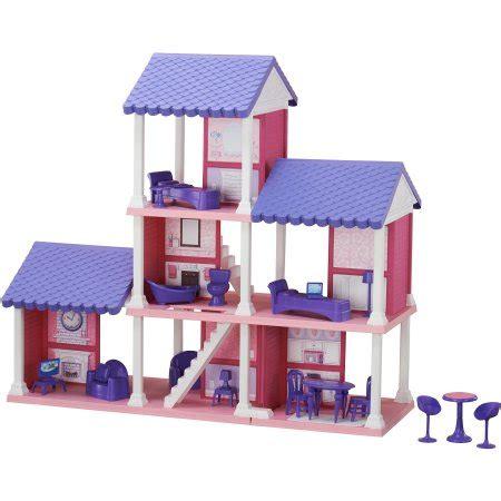 fashion doll 4 room dollhouse american plastic toys 4 room dollhouse walmart