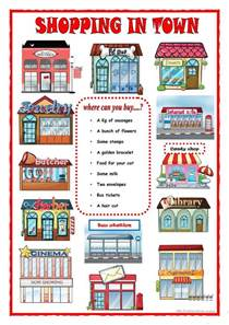 Printable Grammar Worksheets Shopping In Town Worksheet Free Esl Printable Worksheets
