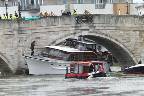canal boat crash road closed after boat crashes into bridge get surrey