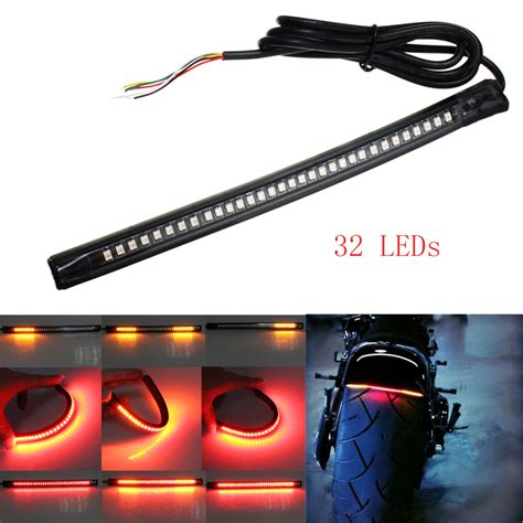led light strips motorcycle universal led motorcycle brake lights turn signal