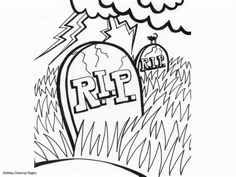 tombstone coloring page coloring home