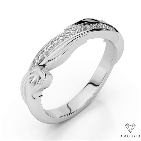 Wedding Ring Wave Design by Wedding Band With Wave Design Rings Amouria