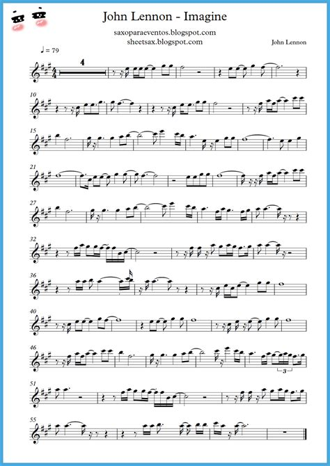 song free quot imagine quot lennon score and playalong sheet