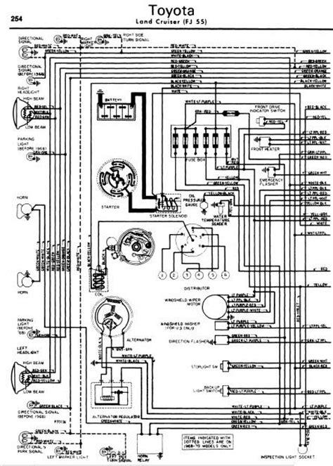 Toyota Land Cruiser FJ55 1962-70 Wiring Diagrams   Online