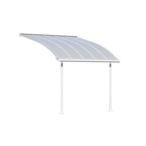patio awnings home depot palram joya 10 ft x 10 ft white patio cover awning