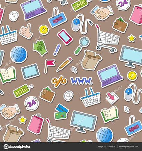 pattern from image online seamless pattern on the theme of online shopping and