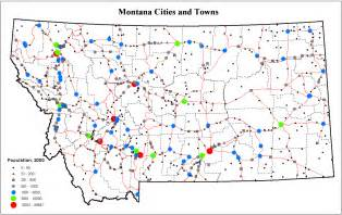 Montana Map With Cities by Montana Map Of Cities