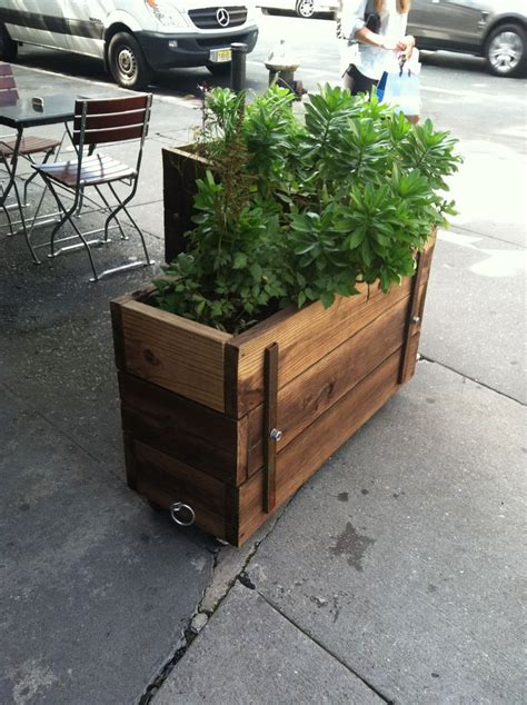 Cool Planter Boxes wheeling planter boxes cool and mobile garden