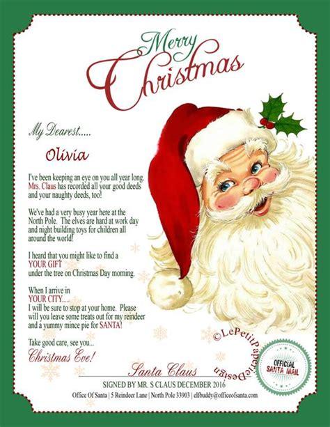 letter santa claus editable printable father christmas